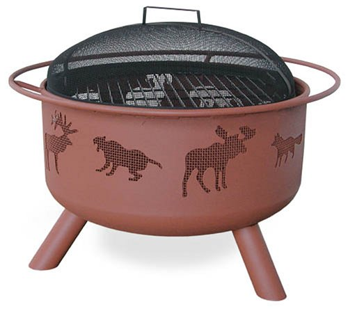 Landmann 28337 Big Sky Fire Pit, Wildlife, Georgia Clay