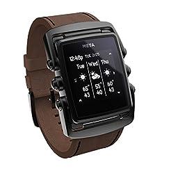 Meta Smart Watch Ltd Black Ip Stainless Steel Case