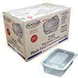 GSL - 250 HEAVY DUTY PLASTIC FOOD GRADE SAFE STORAGE CONTAINERS & LIDS - 650ml.