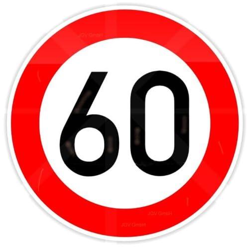 60 Geburtstagsschild Verkehrsschild Geburtstag Schild Straßenschild ...