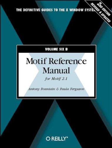 Motif Reference Manual, VOL.6B: For Motif 2.1
