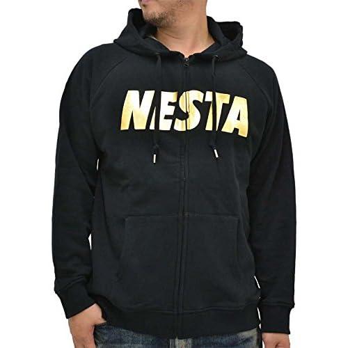 (ネスタブランド) NESTA BRAND 大きいサイズ パーカー メンズ 長袖 フルジップ ロゴ ストリート 迷彩 秋 冬 2color 3L ブラック