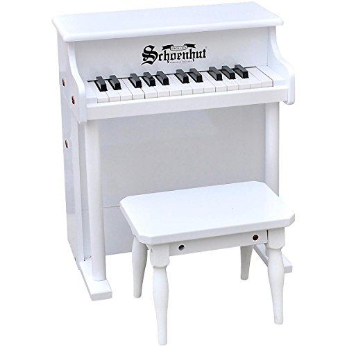 Schoenhut White Traditional Spinet Toy Piano