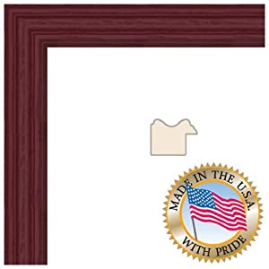 ArtToFrames 10x20 Red Stain on Red Oak Picture Frame 1 Inches Wide 0066-60823-YRED