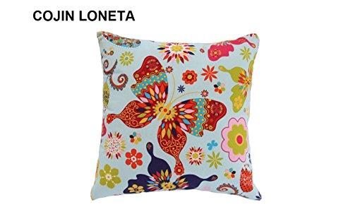 Cojín Con Mariposas en Loneta