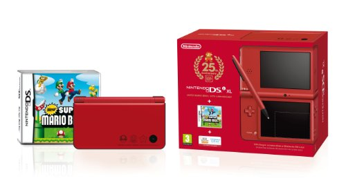 Nintendo DSi XL Handheld Console (Red) with New Super Mario Bros - Special Edition