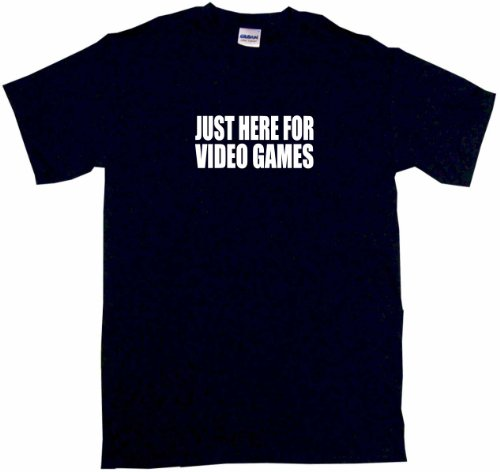 Just Here For Video Games Kids Tee Shirt 4T-Black
