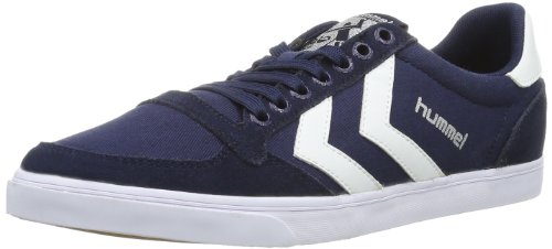 hummel HUMMEL SLIMMER STADIL LOW, Sneaker, Uomo, Blu (DRESS BLUE/WHITE), 42