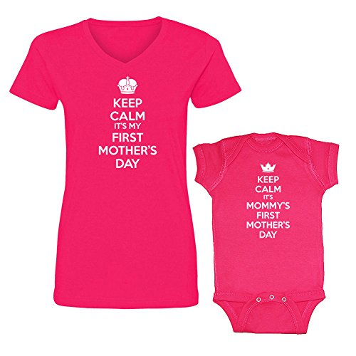 Keep Calm Mommy's First Mother's Day Matching Outfits