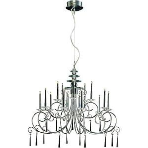 Cone Shape 4-light Matte Silver Crystal Chandelier | Overstock.com