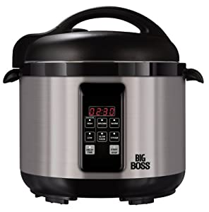 Big Boss 5 Quart Stainless Steel Electric Pressure Cooker by Big Boss