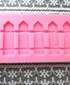 Wocuz W0152 Garden Wooden Fence Fondant Candy Making Chocolate Silicone Mold for Cake Decorating Supplies