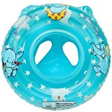 King So NEW Inflatable Baby Child Handle Safety Seat Float Ring Raft Chair Pool Swimming Blue