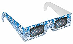 Rainbow Symphony Diffraction Rainbow Glasses - Winter Snow Flake, Package of 100
