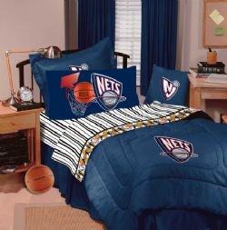 New Jersey Nets Bedding - NBA Comforter and Sheet Set Combo - Full by Dan River SportsZone