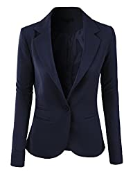 RubyK Womens Single Button Tailored B…