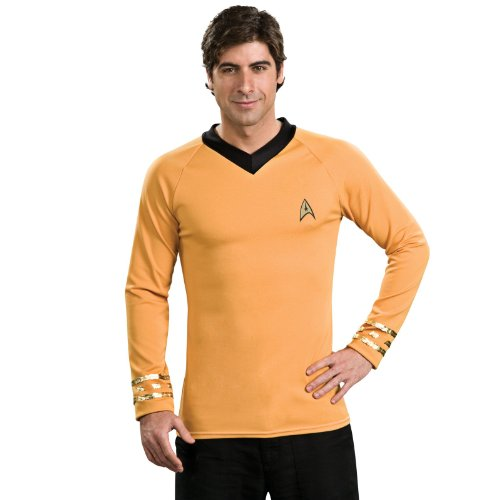 Star Trek Classic Deluxe Gold Shirt, Adult Large Costume