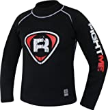 Authentic RDX Fight Me Neoprene Sweat Shirt Rash Guard Sauna Suit Weight Loss Top MMA