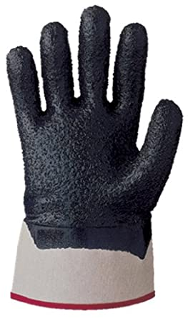 Showa Best 7066R Nitri-Pro Palm-Coated Nitrile Glove, Rough Grip, Cotton Jersey Liner, Reinforced Safety Cuff, General Purpose Work, Medium (Pack of 12 Pairs)