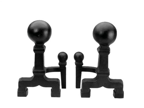 Cheapest Price! Minuteman International X300020 6-Inch Diameter Black Ball Andirons