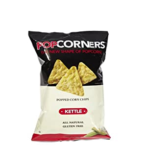 Popcorners Natural Popped Corn Chips 1.1-Ounce Package, Kettle Flavor