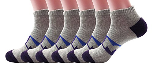 Silkworld Men'S Cotton Casual Sport Colorful Crew Socks Pack Of 6 Gray