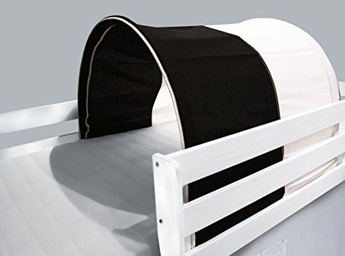 Tunnel / grotte pour lit surélevé - Lit de jeu blanc / noir - TSG-48
