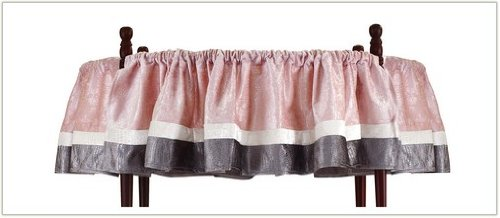 Baby Doll Round Crib Canopy Valance, Pink, 4 Piece front-1060395