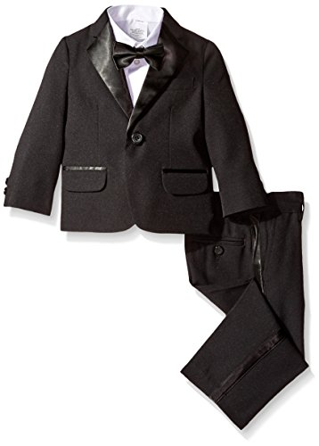 Nautica Little Boys' Tuxedo Suit Set with Bow Tie, Black, 3T