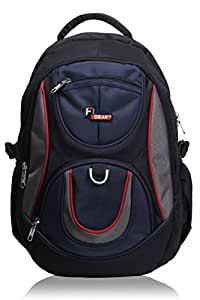 F Gear Polyester 29Litres Black Blue School Bag