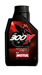 Motul 104125 Factory Line Fully Synthetic 15W-50 Petrol Engine Oil for Bikes (1 L)