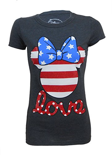 Disney Ladies Fitted/Juniors American Minnie Mouse T-Shirt