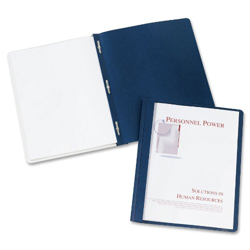 Avery Durable Clear Front Report Covers, Dark Blue, Pack of 25 (47961)