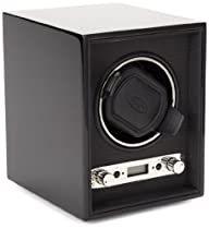 Wolf Designs 453870 Meridian Collection 2.7 Single Watch Winder, Black
