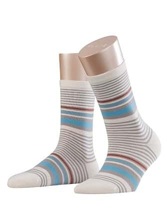 FALKE Damen Socken  47043 Stripe Socke, Gr. 39-42, Weiß (off-white 2049)