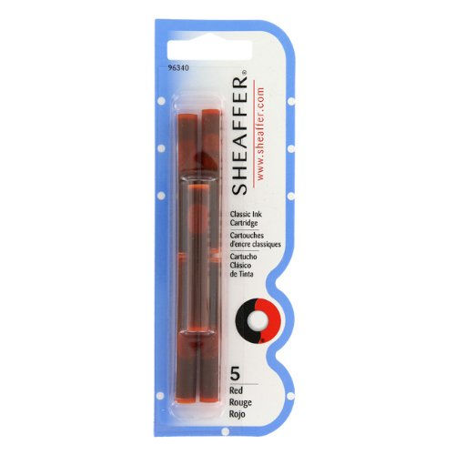 Sheaffer Calligraphy Ink Cartridges red
