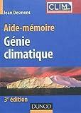 echange, troc Jean Desmons - Aide-mémoire de génie climatique - 3ème édition