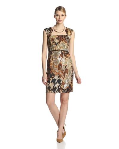 Ellen Tracy Women's Sleeveless Printed Sheath Dress  [Animal]