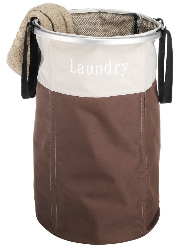 Whitmor Easycare Round Laundry Hamper, Java (Laundry Hamper Portable compare prices)