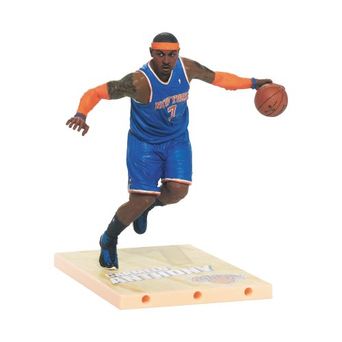 McFarlane Toys NBA Series 23 Carmelo Anthony Action Figure (Blue Numbered Basketball Jersey compare prices)