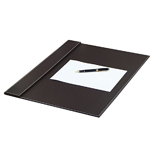 Premium computer desk pad-stylish mat cover provides perfect writing surface- made of leather for mouse and keyboard with top rail to keep paper or calendar in place-color brown size 24X18 inches (Table Extension Pad compare prices)