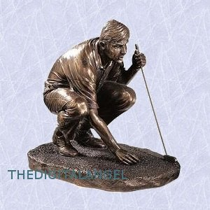 The Last Hole Golfer Statue Replica Sculpture