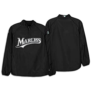 Florida Marlins Authentic Cool Base Gamer Jacket by Majestic