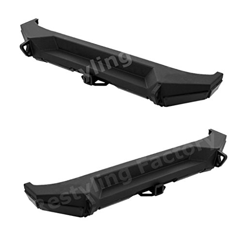 "RF Black Jeep Wrangler JK Heavy Duty Rear Bumper with JK Jeep 2"" Hitch Receiver"