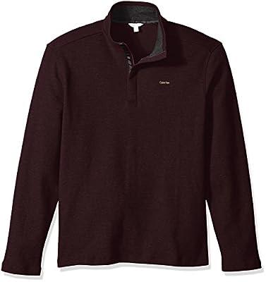Calvin Klein Men's Long Sleeve Solid Mock Neck Sweater