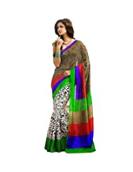 Vibes Women's Bhagalpuri Art Silk Saree,With Blouse (S51-VBK139_Multi)