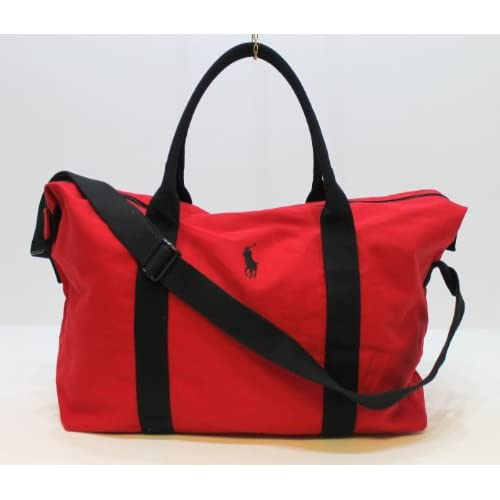 RALPH LAUREN POLO RED MENS HOLDALL   TRAVEL   GYM   WEEKEND   DUFFLE BAG
