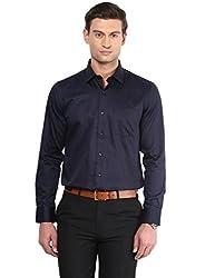 GIVO Navy Solid Casual Shirt
