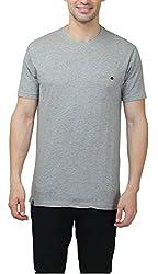 Hash Tagg Men's Cotton T-Shirt HT-3005_Grey_M