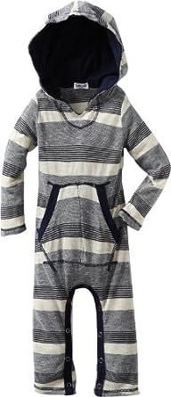 Splendid Littles Baby-Boys  Oatmeal Stripe Jersey Playsuit, Navy, 12-18